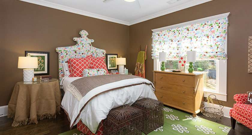 Brown Green Bedroom Eclectic Colordrunk
