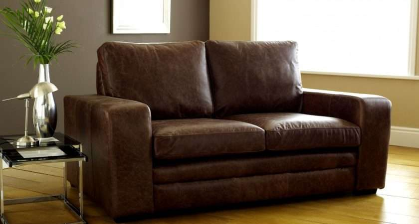 Brown Modern Leather Sofabed Sofa Beds