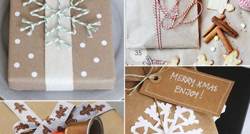 Brown Paper Gift Wrapping Ideas Paradissi
