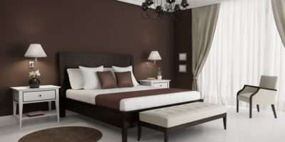 Brown Walls Bedroom House