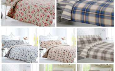 Brushed Cotton Flannelette Bedding Duvet Cover Fitted