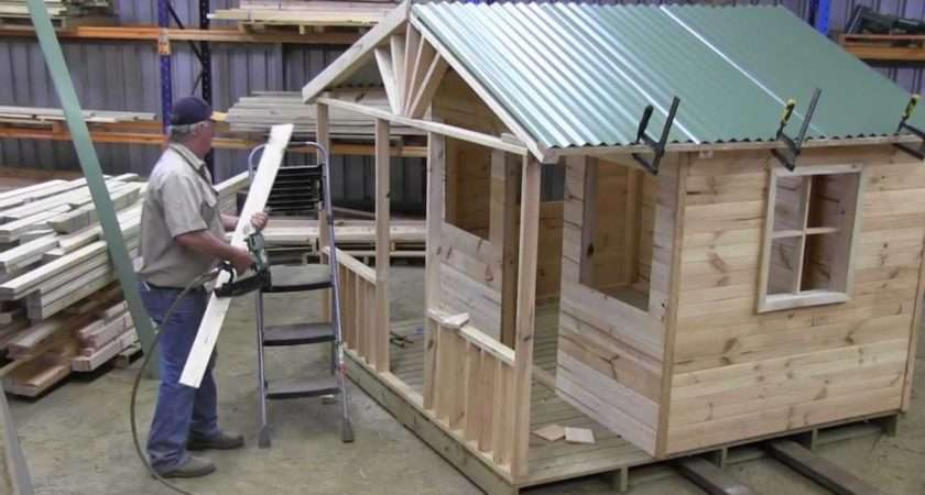 Build Cubby House Roof Part Mts Youtube