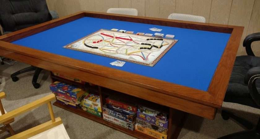 Build Your Own Gaming Table Plenty Storage