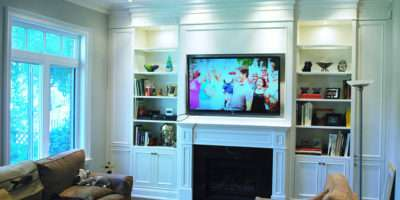 Built Wall Unit Traditional Living Room Toronto