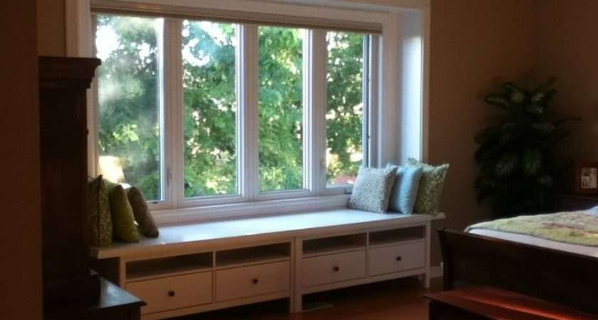Built Window Bench Drawers Used Hemnes Units Added Trim