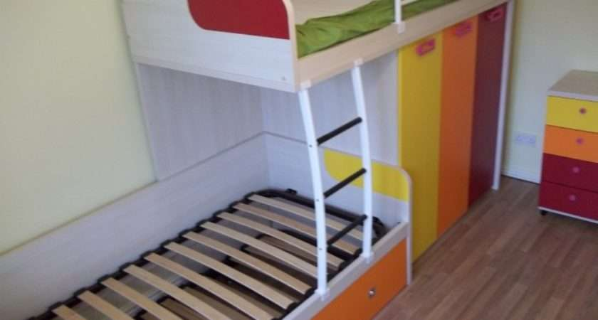 Bunk Bed Trundle Funky