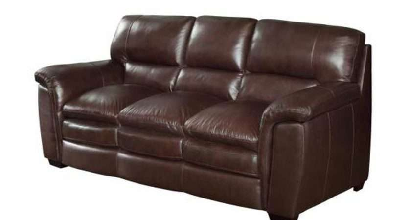 Burton Brown Leather Sofa Steal Furniture Outlet
