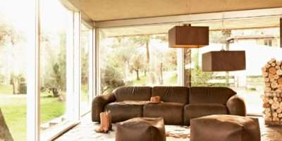 Busnesli Brown Couch Country Living Room Interior Design Ideas