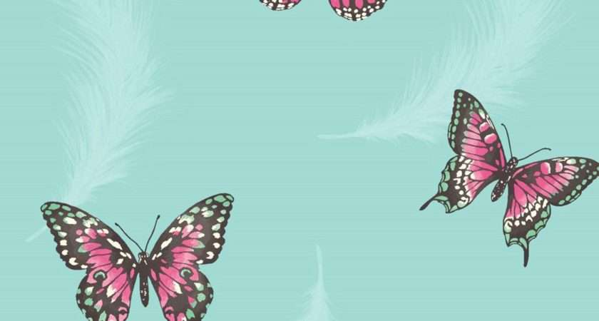 Butterflies Available Cream Grey Teal