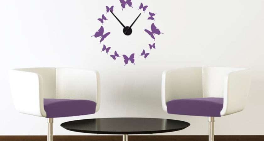 Butterflies Wall Sticker Clock Art