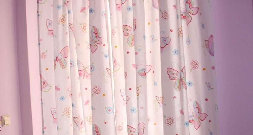 Butterfly Pink Childrens Curtains Kids