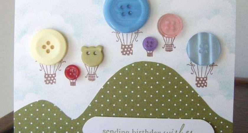Buttons Balloons Cards Pinterest