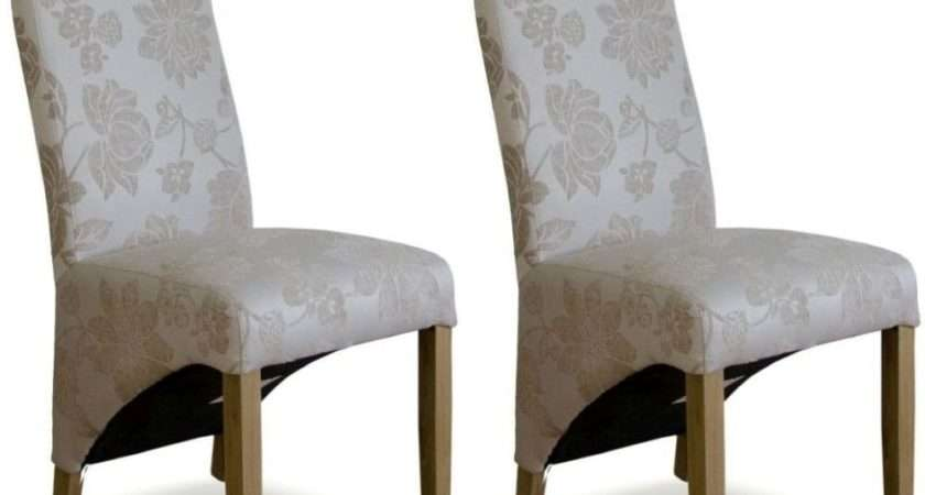 Buy Homestyle Wave Floral Cream Fabric Dining Chair