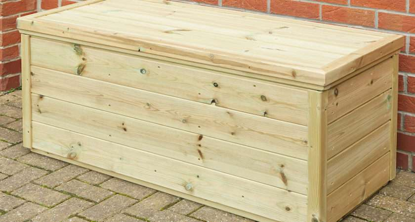 Buy Outdoor Wooden Storage Chest Tts