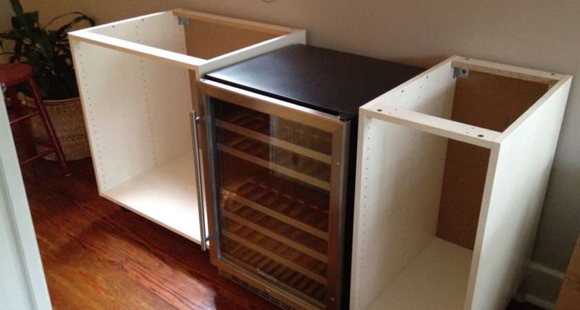 Cabinets Placed Our Wine Fridge Between Two Akurum Base