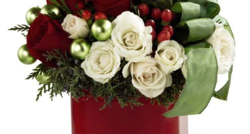 Canada Floral Delivery Christmas Flowers Happy Holiday Bouquet