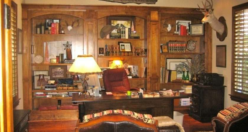 Canyon Court Rustic Home Office Dallas Sight