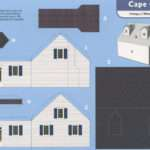Cape Cod House Cut Out Postcard Date Circa