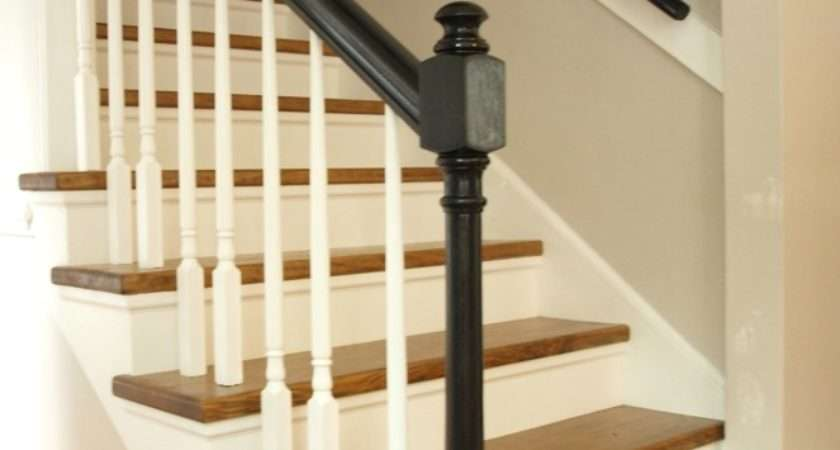 Carpet Wood Stair Makeover Reveal Simply Swider