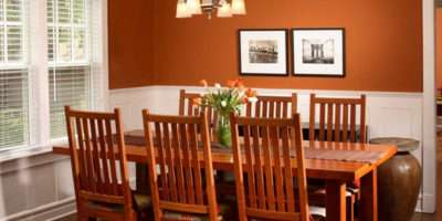 Catchy Orange Dining Room Designs Decoration House