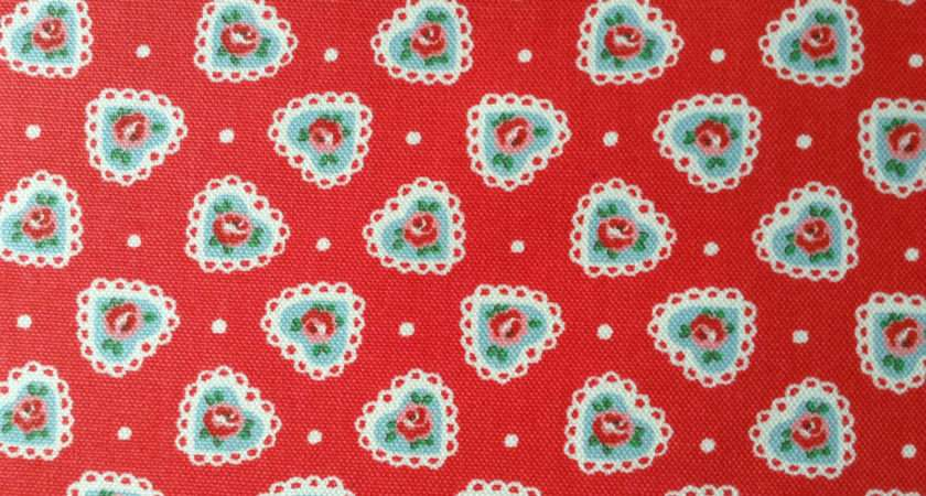 Cath Kidston Sweetheart Rose Red Cotton Canvas Boqinana
