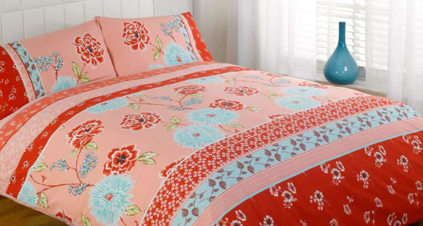 Cath Oriental Bedding Red Pink Duck Egg Blue Chic