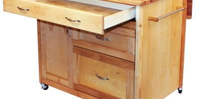 Catskill Deep Drawer Island Drop Leaf Storage