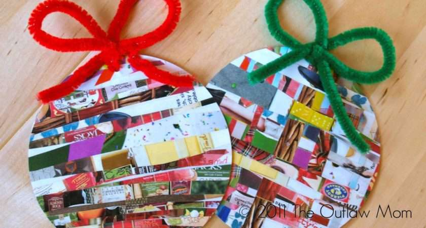 Celebrate Homemade Holidays Recycled Paper Ornaments