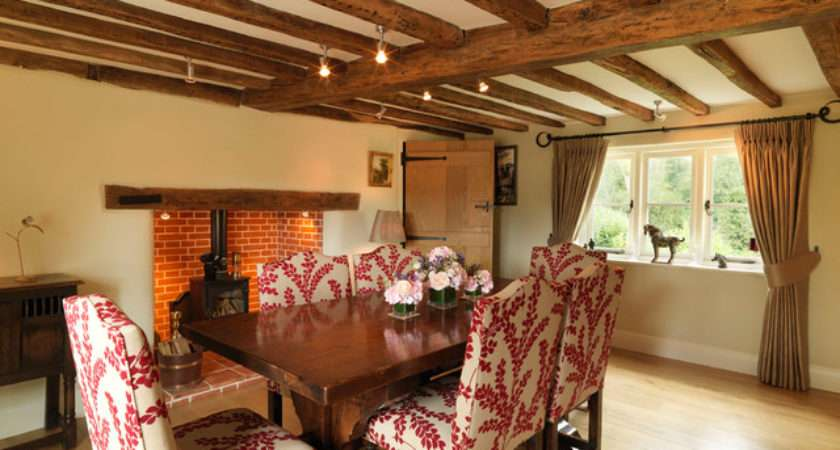 Century Thatched Cottage Country Dining Room
