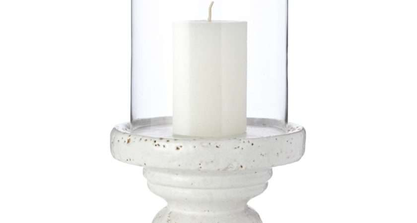 Ceramic Hurricane Candle Holder Home Old Season French