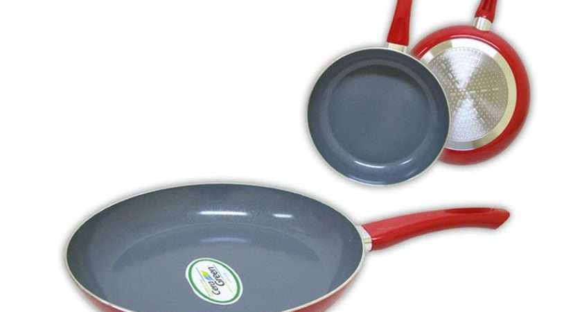 Ceramic Non Stick Frying Pan All Hobs Incl Induction Red Ebay