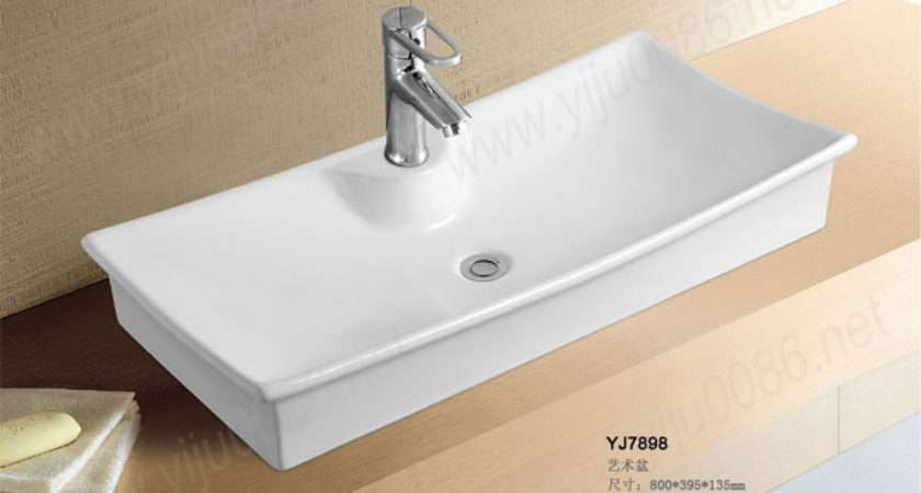 Ceramic Small Counter Top Oval Wash Basin Cabinet Bathroom Sink