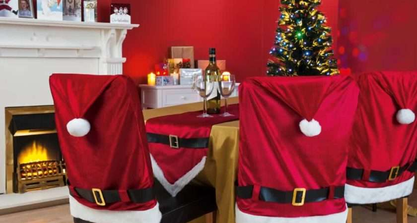 Chair Cover Santa Claus Hat Covers