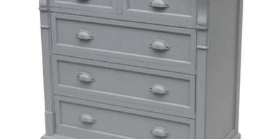 Charles Bentley Grey Shabby Chic Chest Drawers