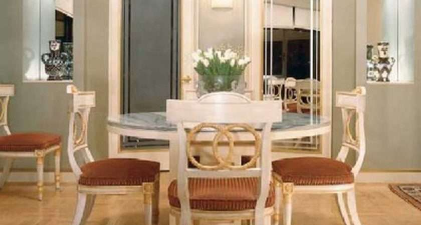 Charming Pedestal Rounded Dinette Table Set White