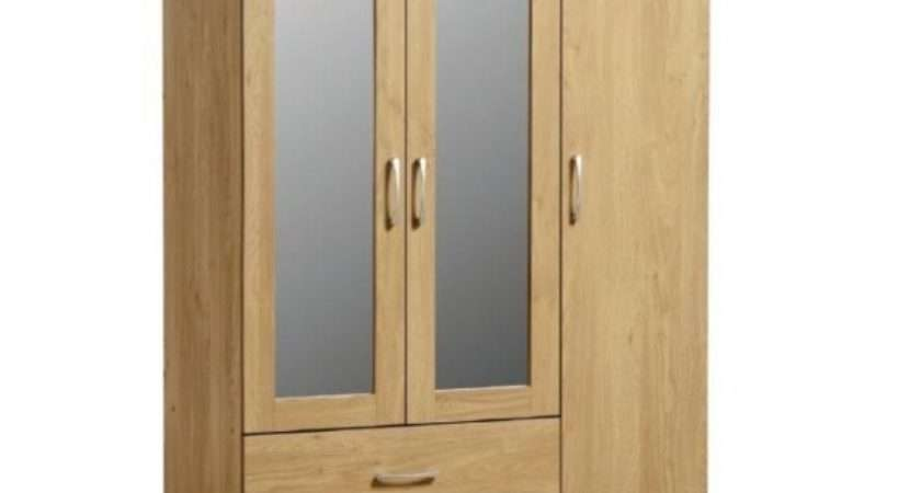 Cheap Seconique Charles Oak Door Drawer Wardrobe Sale