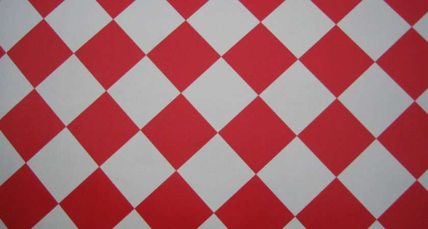 Cheap Vinyl Flooring Retro Red White Check Diamond Pattern Ebay