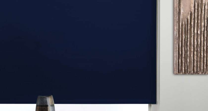Cheapest Blinds Ltd Navy Blue Blackout Roller Blind