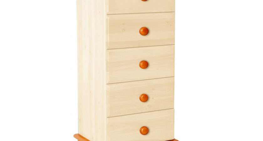 Chest Drawers Tallboy Bedside Table Drawer Narrow Night Stand Bun