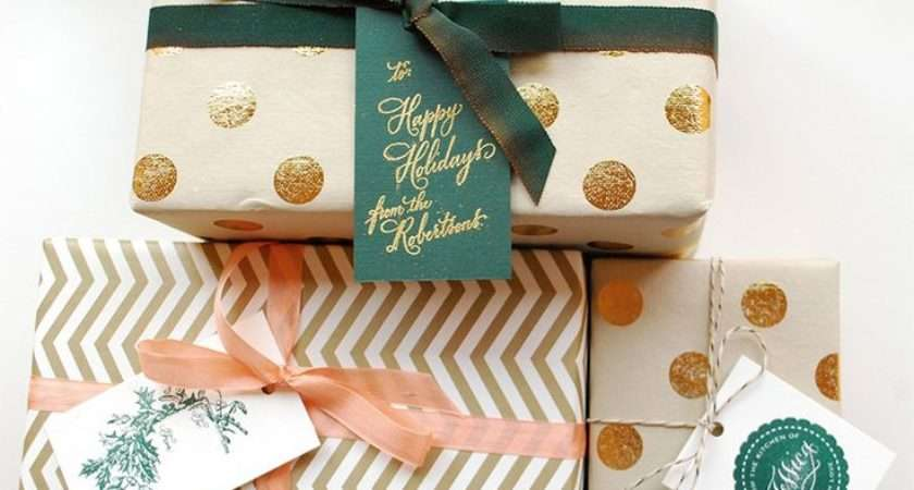 Chic Modern Holiday Gift Wrap Christmas Pinterest