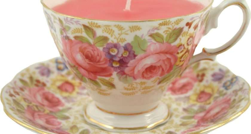 Chic Shape Wonderful Range China Tea Cup Candles