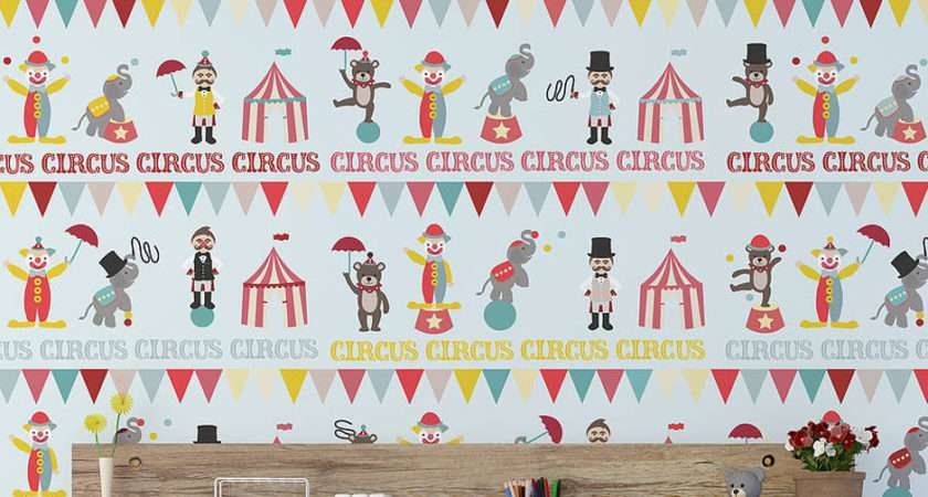 Children Circus Contemporary Wall Stickers