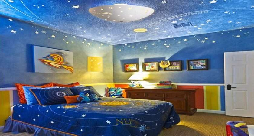 Children Lighting Outer Space Themed Bedrooms