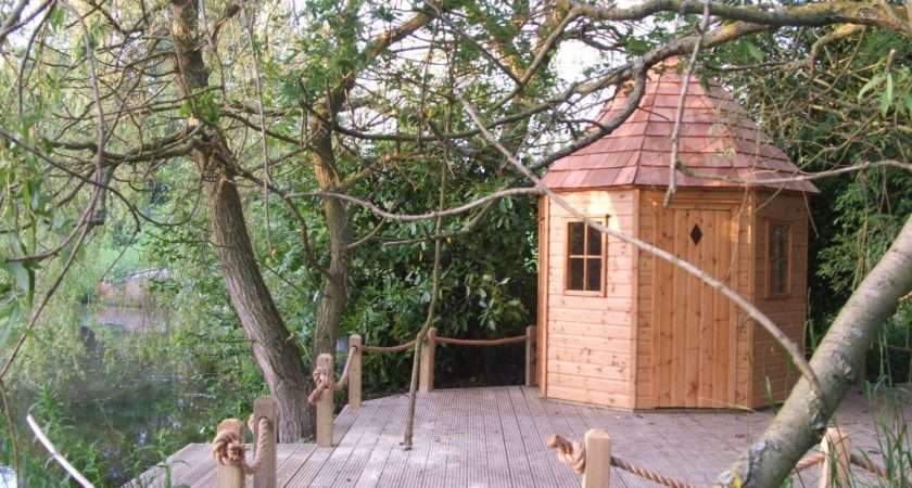Childrens Wooden Playhouse Island Playhouses