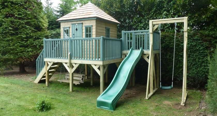 Childrens Wooden Playhouse Treehouses Company