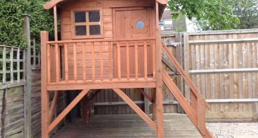 Childs Outdoor Wooden Playhouse Wendy House Raised