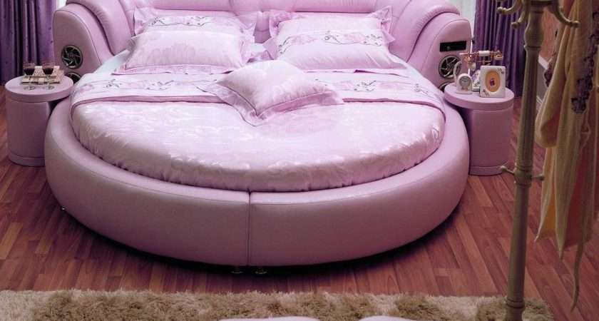 China Round Leather Bed