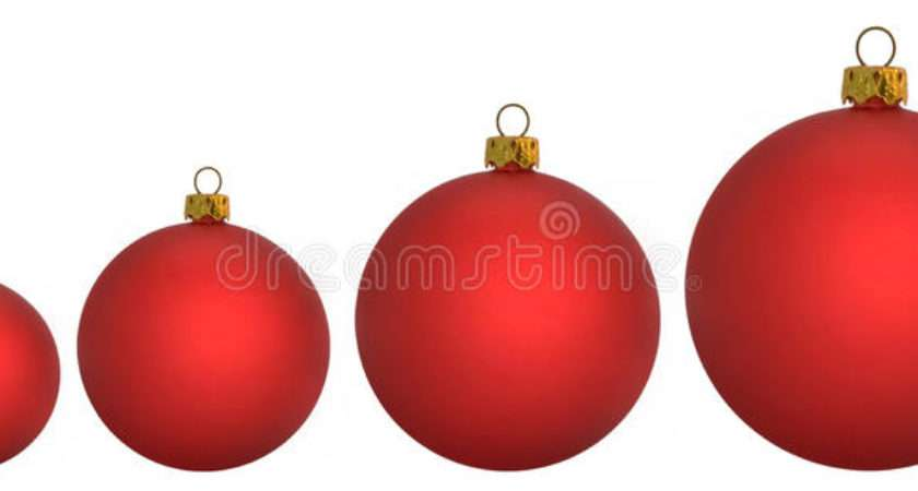 Christmas Baubles Illustration Year