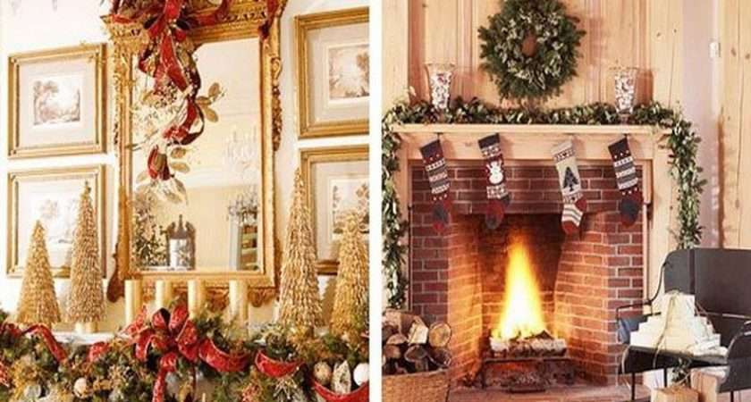 Christmas Decorating Ideas Easy Fireplace