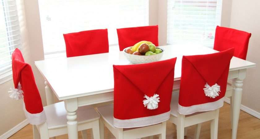 Christmas Dining Room Chair Covers Hat